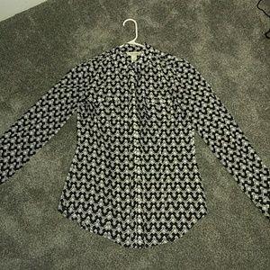 White House Black market silk blouse